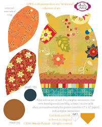 6 best images of free printable owl template pattern printable