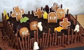 Halloween Cake Graveyard by Lauralovescakes Ghoulish Graveyard Halloween Cake