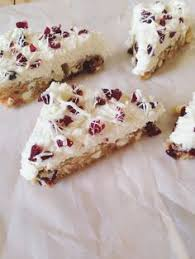 cream cheese and cranberry bars from the sandra lee magazine