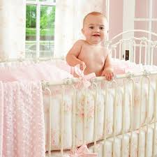 Shabby Chic Crib Bumper by Shabby Chenille Baby Bedding Collection Carousel Designs Shabby