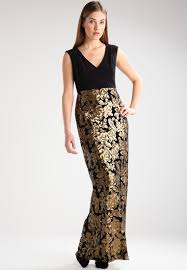 adrianna papell jersey dress black gold women dresses w