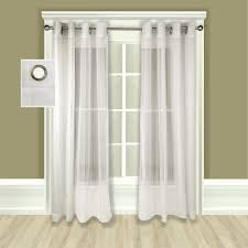 atlantic stripe grommet top sheer patio curtain panel