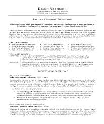network technician resume amitdhull co