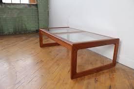 danish teak glass top coffee table by komfort for sale in