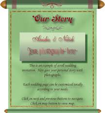 Scroll Invitation Cards Wedding E Invitation