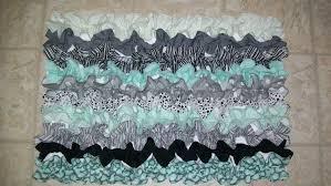 Teal Bathroom Rugs Rug Mat Bath Bathroom Kitchen Ruffle 20 X30 Designer Fabric Gray