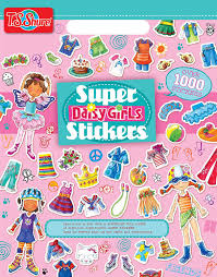 super colorful amazon com t s shure daisy girls dress ups super stickers book