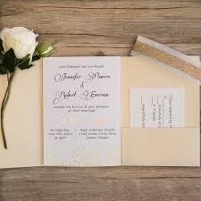 Affordable Pocket Wedding Invitations Gold Glitter Dots And Arrow Pocket Wedding Invitations Ewpi205 As