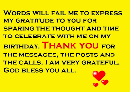 thank you notes for birthday wishes fascinating thank you card for