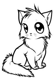 gambar sketsa hewan kucing dp bbm