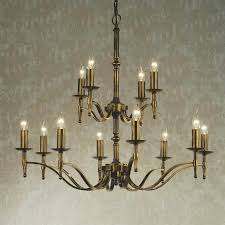 12 Light Chandeliers Stratton 12 Light Antique Brass Chandelier