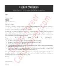 mechanical engineer cover letter experience resumes