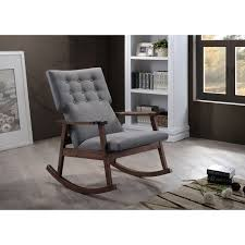 Upholstered Rocking Chairs Featuring Scandinavian Style With Modern Aesthetic The Agatha