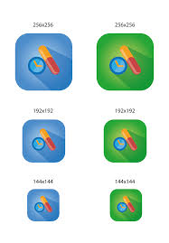android app icon size logo design for calendula android app
