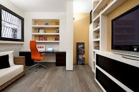 small home office space tiny simple design home office space