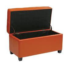 Orange Storage Ottoman Office Metro Vinyl Storage Ottoman With Espresso