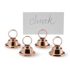 place card holders copper ring place card holders set of 4 williams sonoma