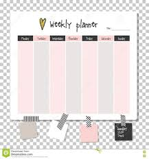 time management weekly planner template weekly planner note paper stock illustration image 79417821 list note paper planner template time weekly