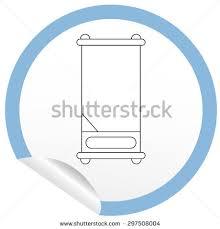 Icon Floor Plan Flat Bed Icon On Sticker Floor Stock Vector 266734268 Shutterstock
