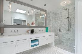 Vanity Framed Mirrors Large Framed Mirrors Bathroom Transitional With Double Sinks