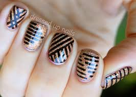 cool strip nail art must try fashions fobia for fashion lovers