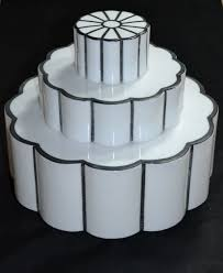 1930s art deco wedding cake milk glass light globe from