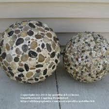 garden ornaments using styrofoam balls pebbles quickwall