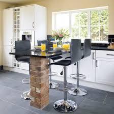 furniture breakfast bar island with modern white bar stools under