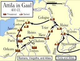 Rome On A Map 40 Maps That Explain The Roman Empire Attila Roman Empire And