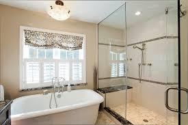 interior casual image of bathroom decoration using black standing