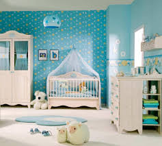 Modern Baby Room Furniture by Awesome Light Blue Stars And Moon Background Print For Wall Design