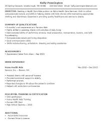 Home Health Aide Job Duties For Resume Hha Resume Template Billybullock Us Sample Resume For Counselor