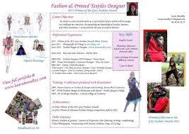 fashion designer cv template plush design fashion designer resume