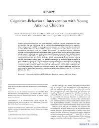 cognitive behavioral intervention with young anxious children pdf