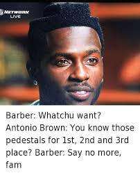 Antonio Brown Meme - jonathan jones barber whatchu want antonio brown you know those