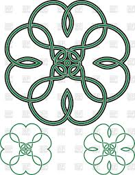 four leaf clover outline vector image 76595 u2013 rfclipart