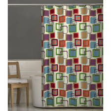 maytex squares multicolor fabric shower curtain shower curtains