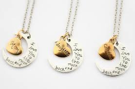 necklaces for mothers i you to the moon and back s day necklaces for 4 99