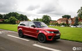 land rover red land rover range rover sport svr 6 october 2016 autogespot