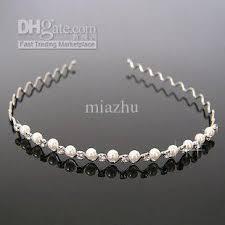 pearl headband new arrival fashion jewellery bridal pearl headband with
