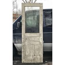 Oak Exterior Doors D18008 Antique Oak Exterior Door With Glass 29 3 4 X 83