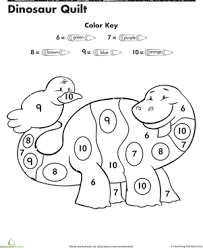 dinosaur color by number number recognition color by numbers