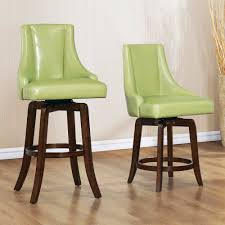 counter dining chairs homelegance annabelle swivel counter height chair in green