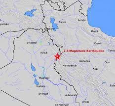 map iran iraq earthquake near iran iraq border kills 330 injures 4 500 kvoa