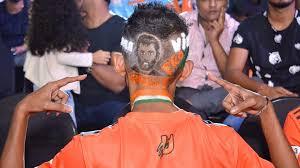 an anup fan with a u0027captain cool u0027 haircut http www prokabaddi com