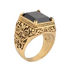 aliexpress buy mens rings black precious stones real model setting promotion shop for promotional model setting on