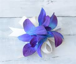 Blue Orchid Corsage Natural Touch Calla Orchid Corsage Made For You
