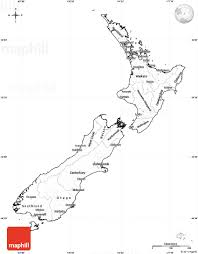 Blank Political Map by Blank Simple Map Of New Zealand