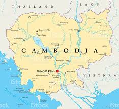 Dia Map Cambodia Political Map Stock Vector Art 545441918 Istock