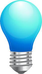 blue free light bulbs to use public domain light bulb clip art